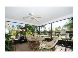 Patio of Wilton Manors home for sale
