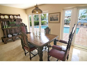 Dining area in home for sale