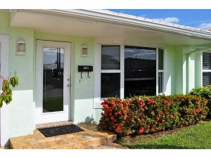 front door of wilton manors home