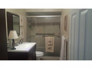 Bathroom in condo for sale