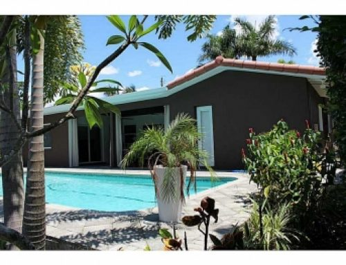 Oakland Park modern waterfront home for sale $650,000