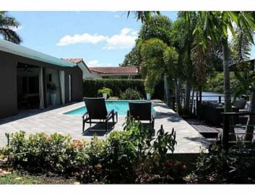 Oakland Park waterfront modern home for sale $625,900.00